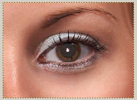 Удаление красных глаз в гимпе