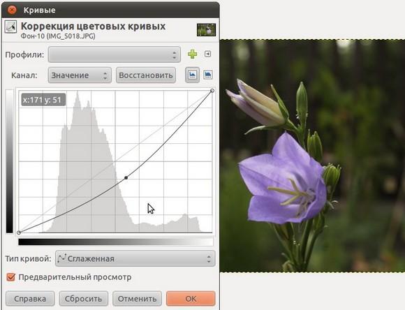 кривые GIMP 2