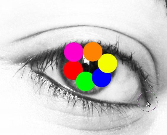 эффект радуги в глазах