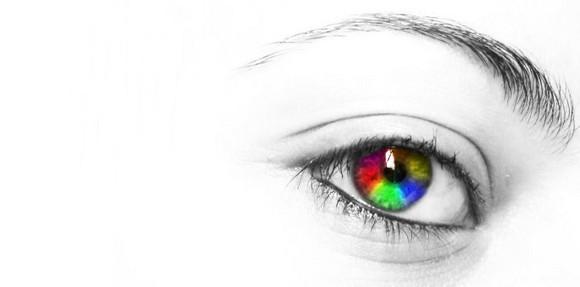радужный цвет глаз в фоторедакторе