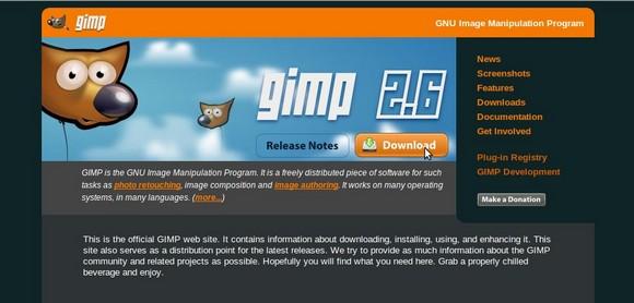 как скачать GIMP
