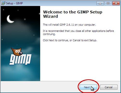 как установить gimp 2