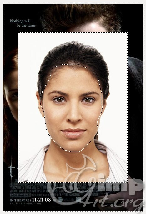 как заменить лицо в GIMP