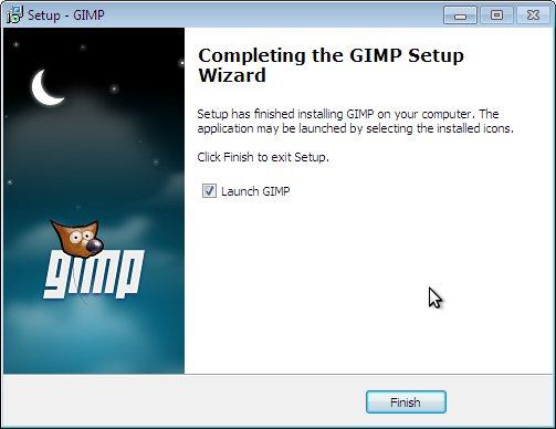 как установить GIMP на windows