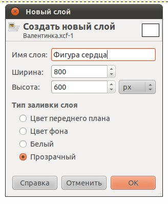 параметры слоя