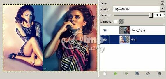 создаем коллаж с помощью GIMP