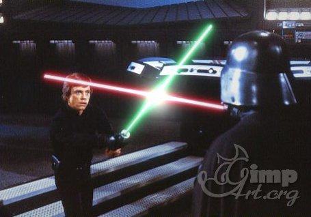 эффект светового меча в фотошопе