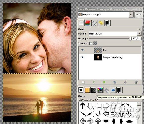 Как сделать фотоколлаж в gimp