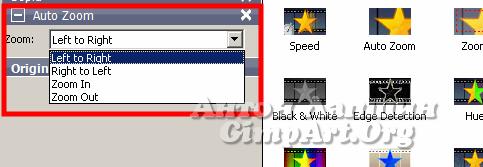эффект удаления-приближения в слайдшоу