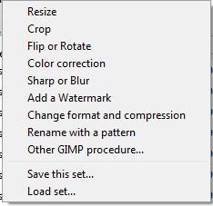 пакетная обработка изображений в gimp