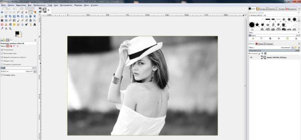 как отразить фото в gimp