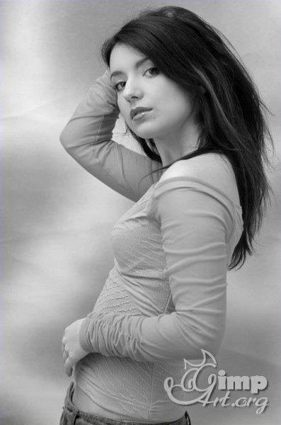 как сделать черно-белое фото в гимпе