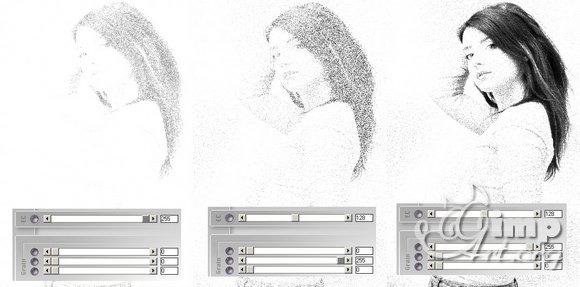 эффект зернистости плагин фотошопа в гимпе